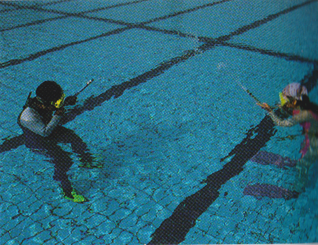 水中 呼気の練習
