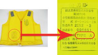 ライフジャケット(救命胴衣)のタイプ別分類