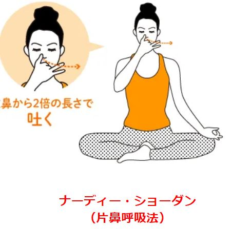 片鼻呼吸法